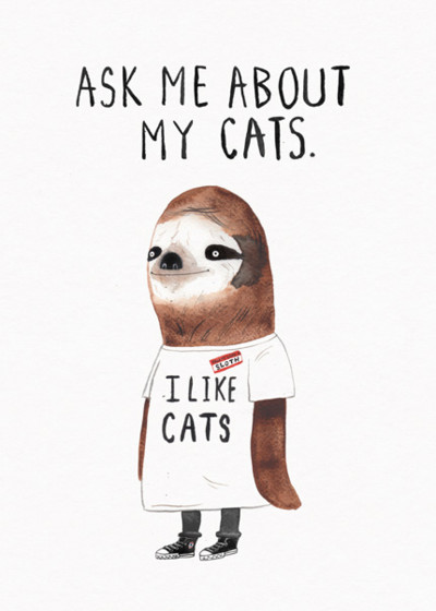 I Like Cats | Personalised Birthday Card