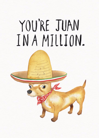 Juan In A Million | Personalised Birthday Card