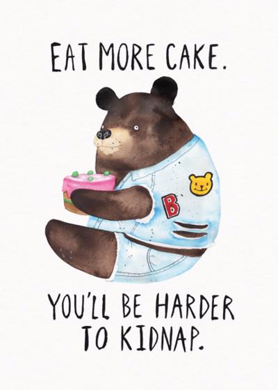 Eat More Cake | Personalised Birthday Card