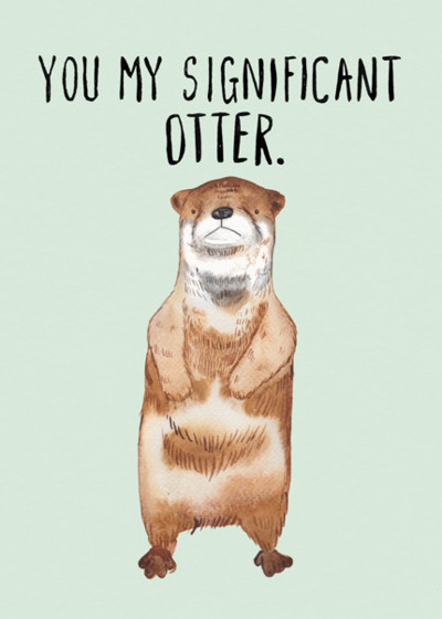 Significant Otter | Personalised Birthday Card