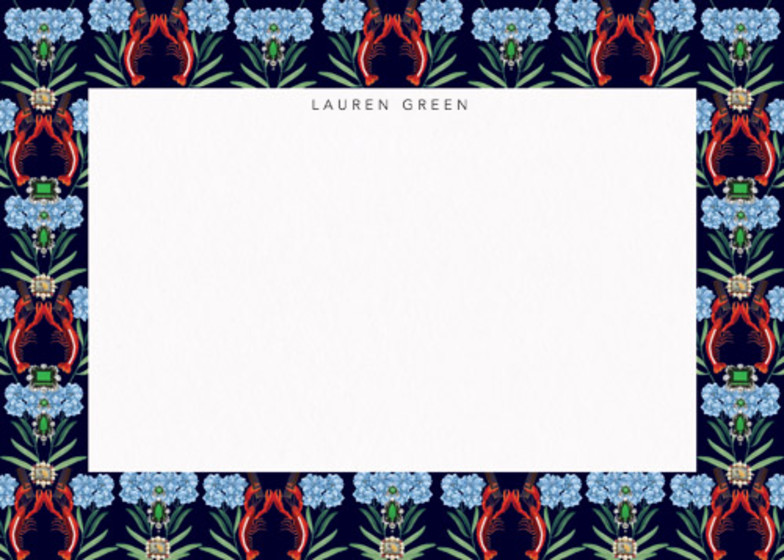 Emerald Lobster | Personalised Stationery Set