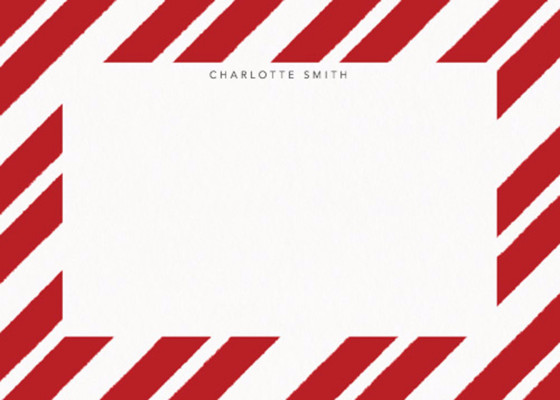 Red Paint Stripe | Personalised Stationery Set