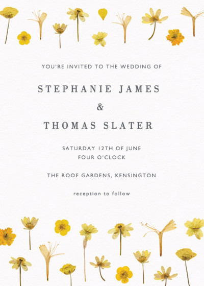 Golden Meadow | Personalised Wedding Invitation