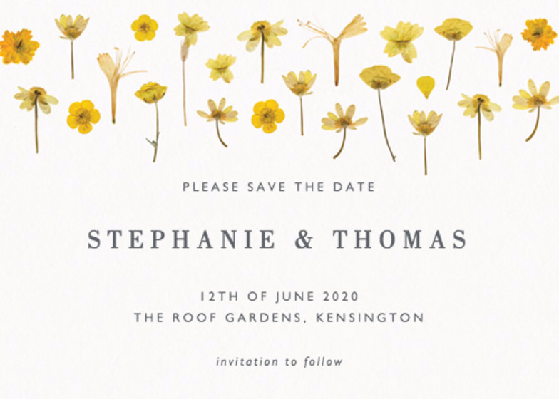Golden Meadow | Personalised Save The Date