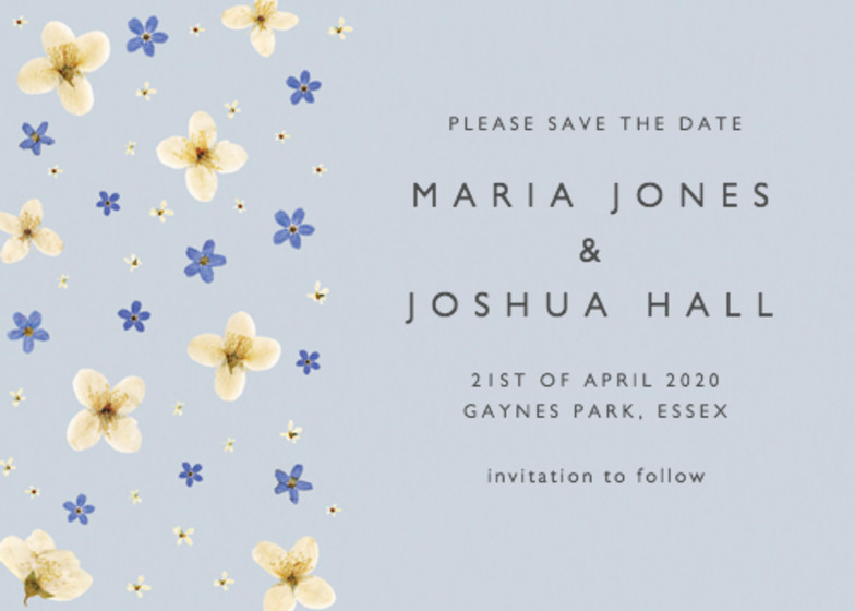 Mock Orange | Personalised Save The Date