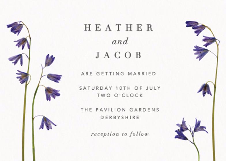 Bluebells | Personalised Wedding Invitation