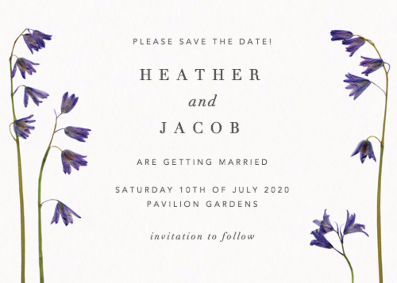 Bluebells | Personalised Save The Date