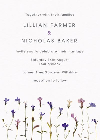 Lobelia | Personalised Wedding Invitation