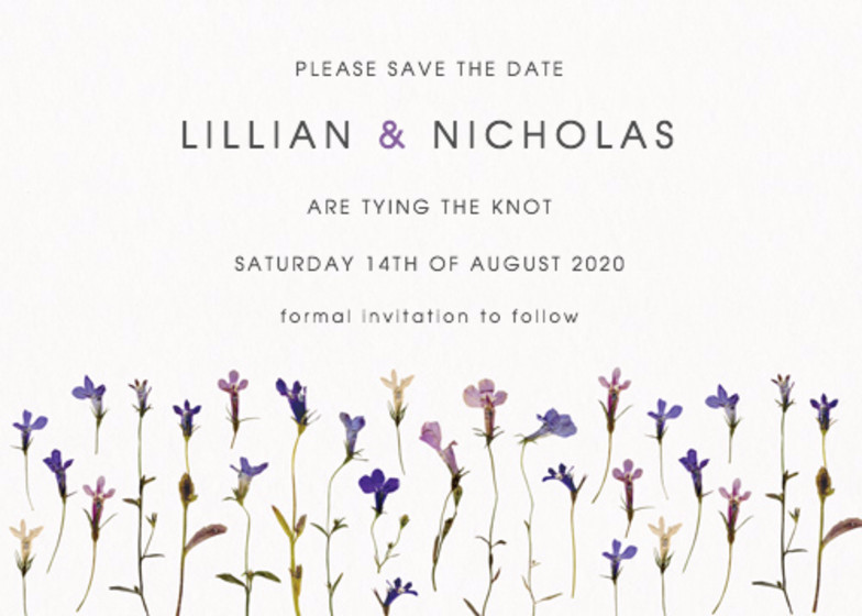 Lobelia | Personalised Save The Date