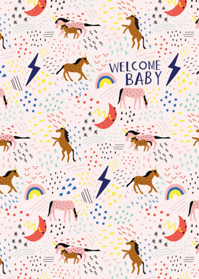 Unicorn Baby | Personalised Congratulations Card