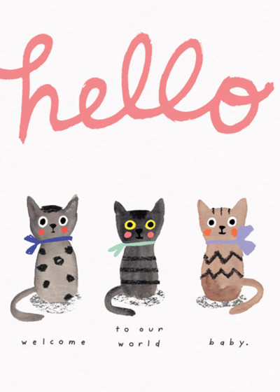 Three Little Kittens | Personalised Congratulations Card