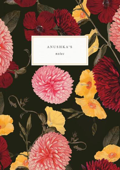 Chrysanthemum | Personalised Lined Notebook
