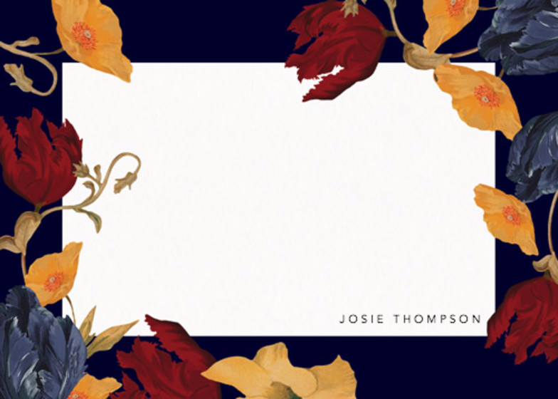 Amber Tulip | Personalised Stationery Set