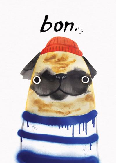 Bon Pug | Personalised Birthday Card