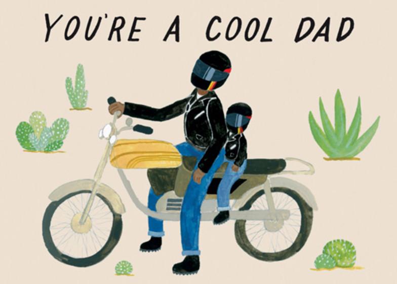 Motorcycle Dad   Personalised Birthday Card