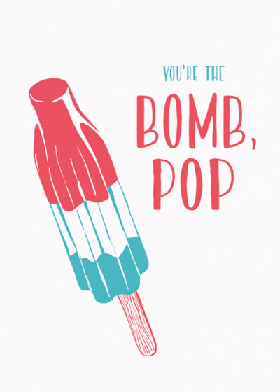 Bomb Pop | Personalised Birthday Card