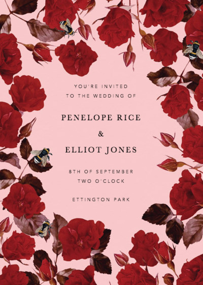 Scarlet Rose | Personalised Wedding Invitation