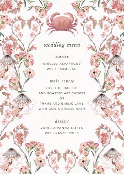 Valentines | Personalised Menu