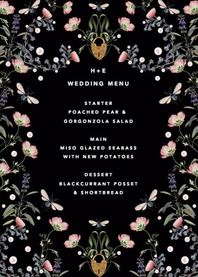 Fairy Tale | Personalised Menu