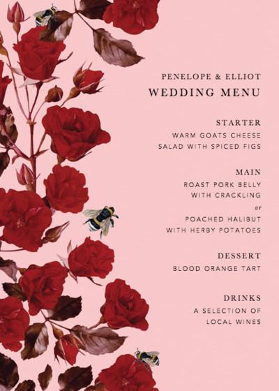 Scarlet Rose | Personalised Menu