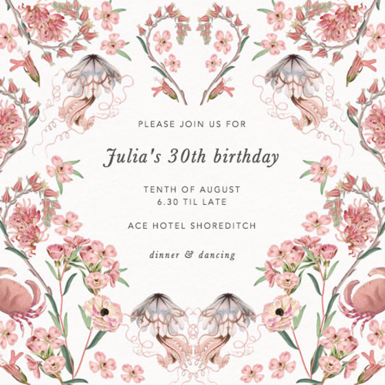 Valentines | Personalised Party Invitation