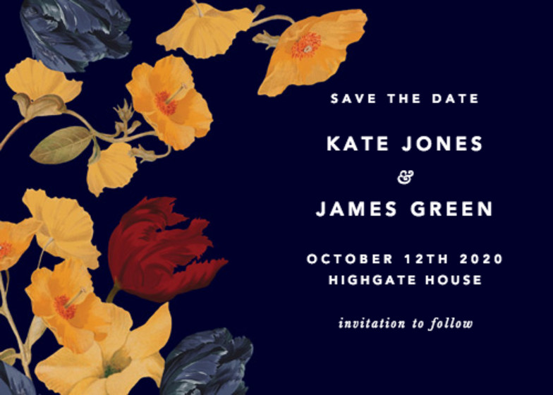 Amber Tulip | Personalised Save The Date