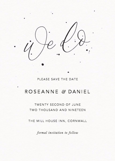 We Do Speckle   Personalised Save The Date