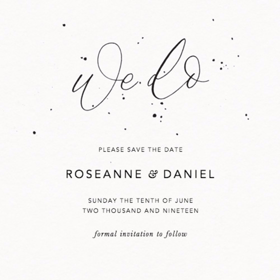 We Do Speckle | Personalised Save The Date
