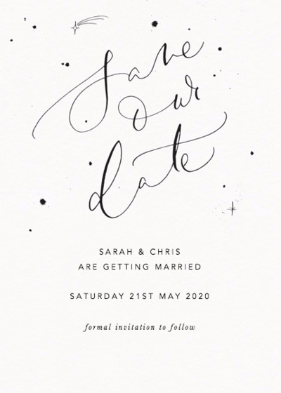 Save Our Date Starry | Personalised Save The Date