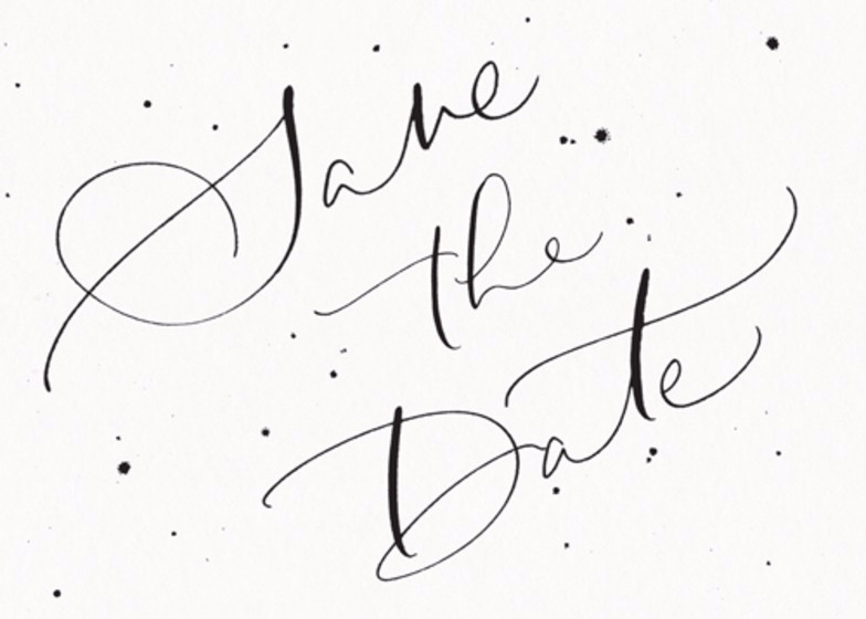 Save The Date Speckle   Personalised Save The Date