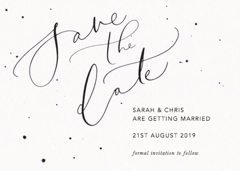 Save The Date Speckle | Personalised Save The Date