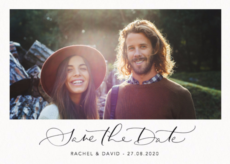 Save The Date Photo   Personalised Save The Date
