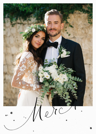 Merci Speckle Photo | Personalised Photo Card Set