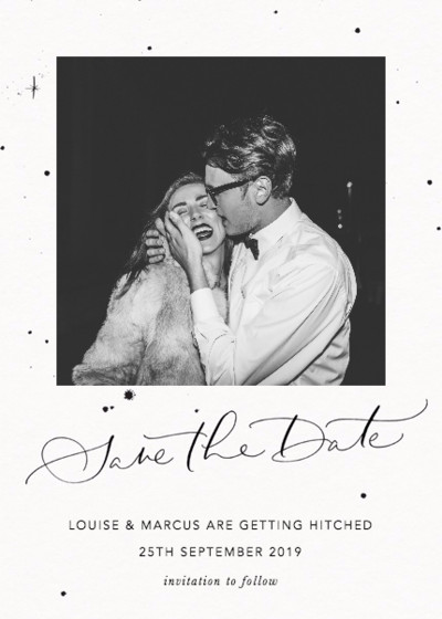Save The Date Starry | Personalised Save The Date