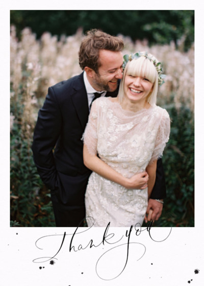 Thank You Speckle Photo | Personalised Photo Card Set