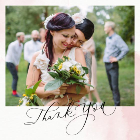 Thank You Blush Photo | Personalised Photo Card Set