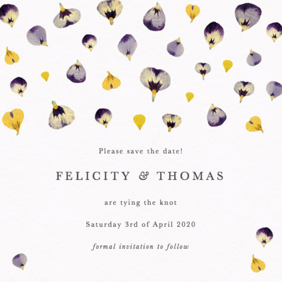 Viola Confetti | Personalised Save The Date