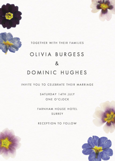 Primrose | Personalised Wedding Invitation