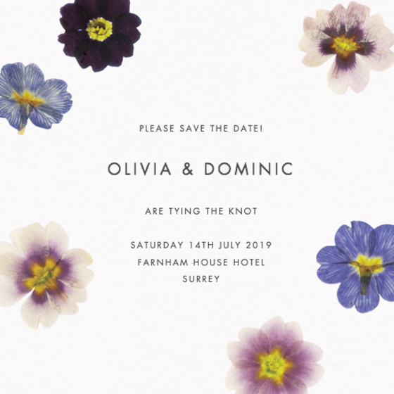 Primrose | Personalised Save The Date