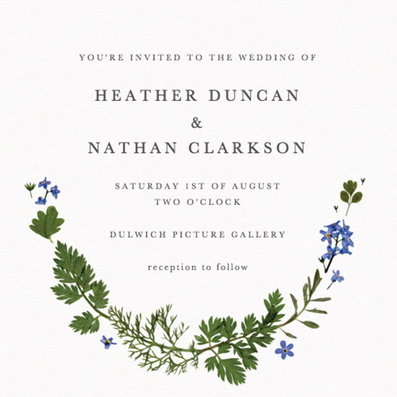 Blue Meadow | Personalised Wedding Invitation