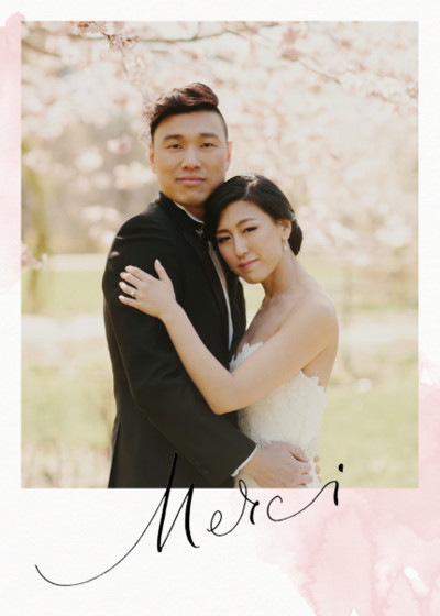 Merci Blush Photo | Personalised Photo Card Set