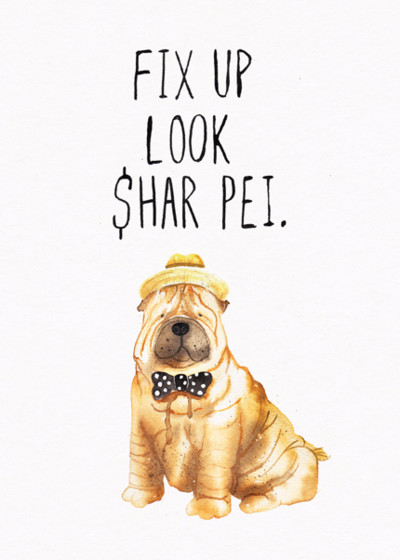 Look Shar Pei | Personalised Birthday Card