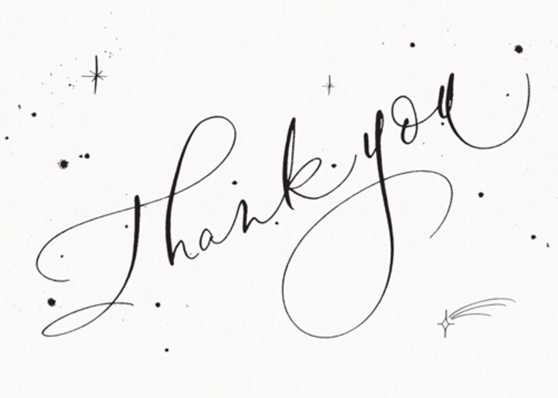 Thank You Starry | Personalised Thank You Card Set