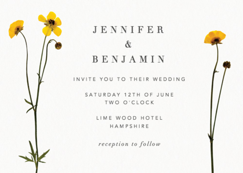Buttercup | Personalised Wedding Invitation