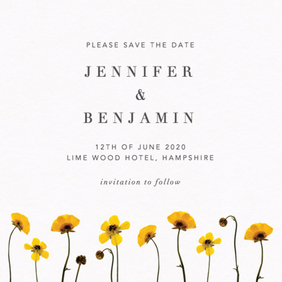 Buttercup | Personalised Save The Date