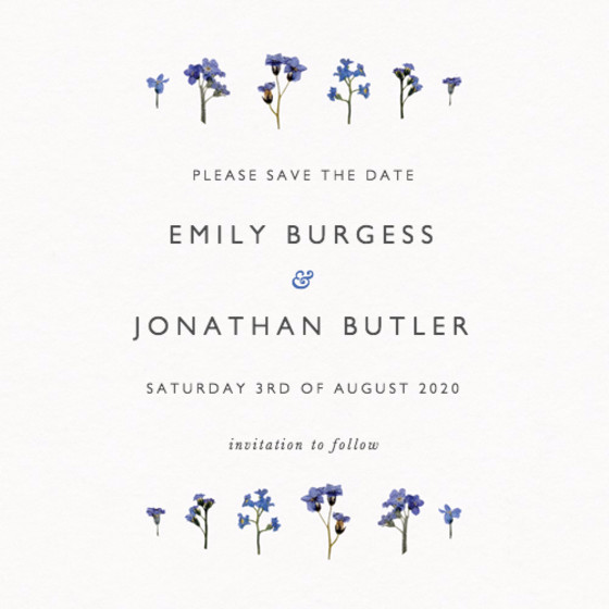 Forget-Me-Not Scatter | Personalised Save The Date