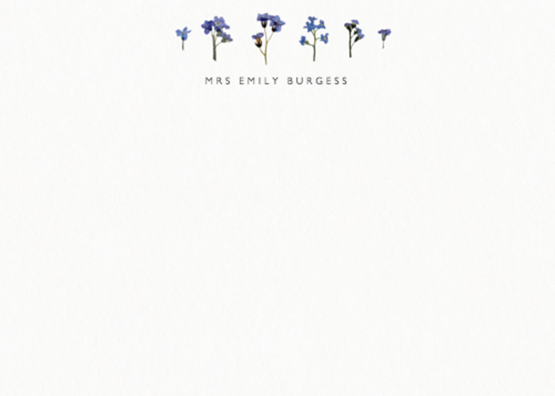 Forget-Me-Not Scatter | Personalised Stationery Set