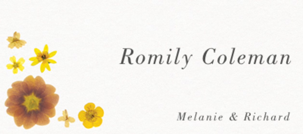 Yellow Blossoms | Personalised Place Name