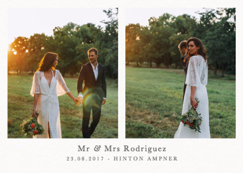 Landscape Wedding Duo   Personalised Photo Card Set