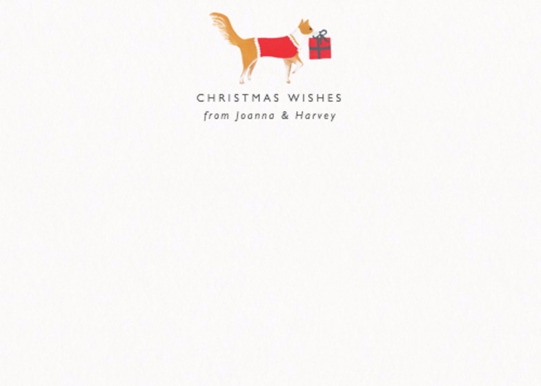 Christmas Collie | Personalised Stationery Set